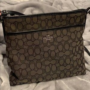 Blackish gray Coach Purse